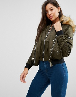 River Island Double Layer Bomber Jacket