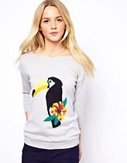 A Wear Parrot Intarsia Jumper