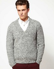United Colors of Benetton Jumper with Shawl Neck