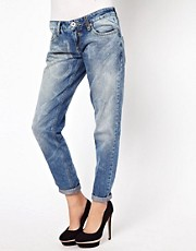 River Island Boyfriend Jean With Star Wash