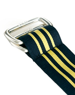 Image 2 ofPolo Ralph Lauren Striped D Ring Belt