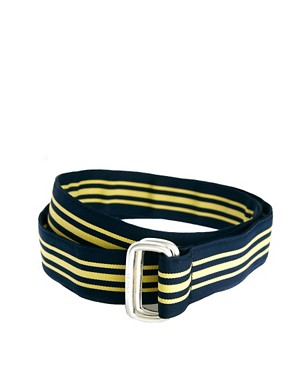 Image 1 ofPolo Ralph Lauren Striped D Ring Belt
