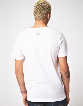 Image 2 ofPuma Deep V Neck T-Shirt
