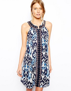 Mango Printed Halter Dress
