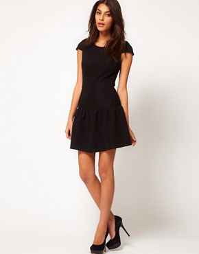 Image 4 ofASOS Mini Dress In Texture With Dropped Waist