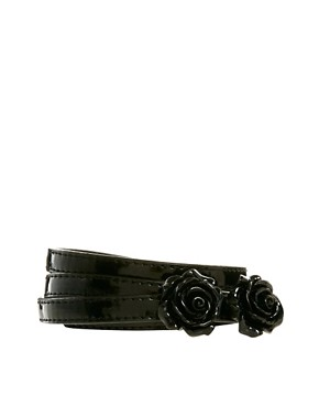 Image 1 ofNew Look Rose Resin Skinny Belt