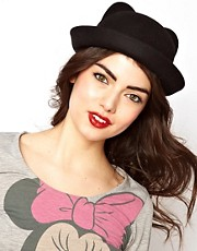 ASOS Felt Ears Bowler Hat