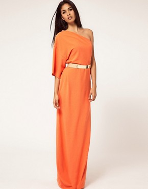 Image 1 ofAqua Kimono Maxi Dress with Metal Belt