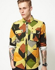 Supremebeing Shirt Arms Twill Geometric Camo