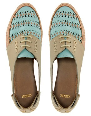 Image 2 ofASOS JUKEBOX Leather Flat Shoes