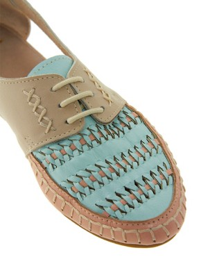 Image 4 ofASOS JUKEBOX Leather Flat Shoes