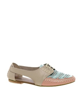 Image 1 ofASOS JUKEBOX Leather Flat Shoes