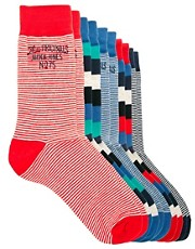 Jack &amp; Jones Calais 5 Pack Socks