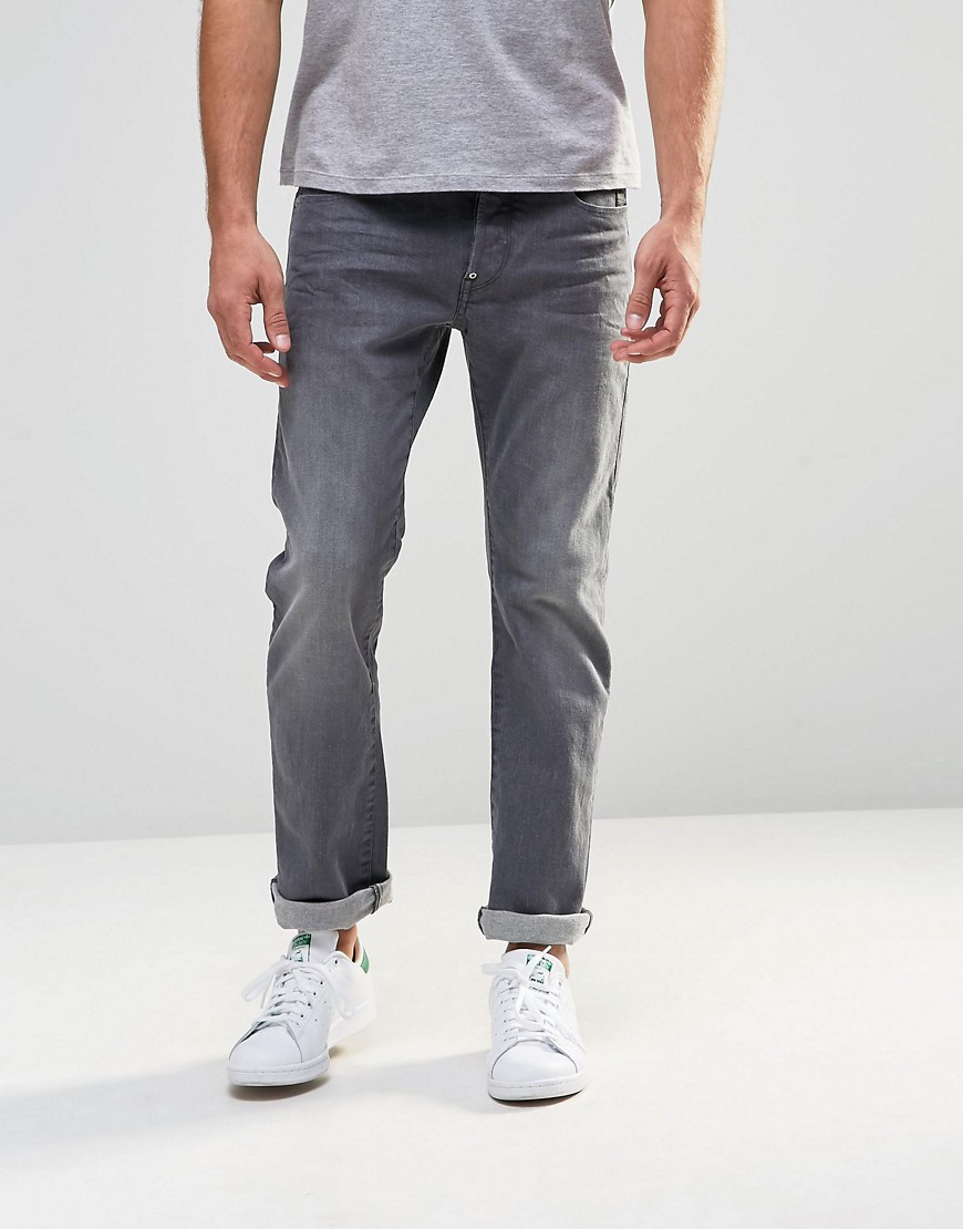 G-Star Jeans Revend Straight Fit Stretch Light Grey Wash