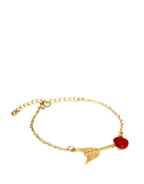 Image 1 ofASOS Arrow Heart Ditsy Bracelet