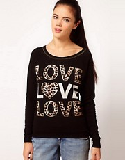 River Island Love Love Love Sweat Top