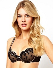 Von Follies By Dita Von Teese Sophia Spot Balconette Bra