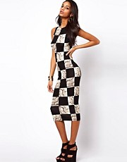 ASOS Midi Bodycon Dress In Python Print