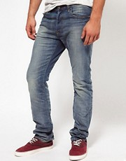 G-Star - 3301 - Jeans slim fit leggermente invecchiati