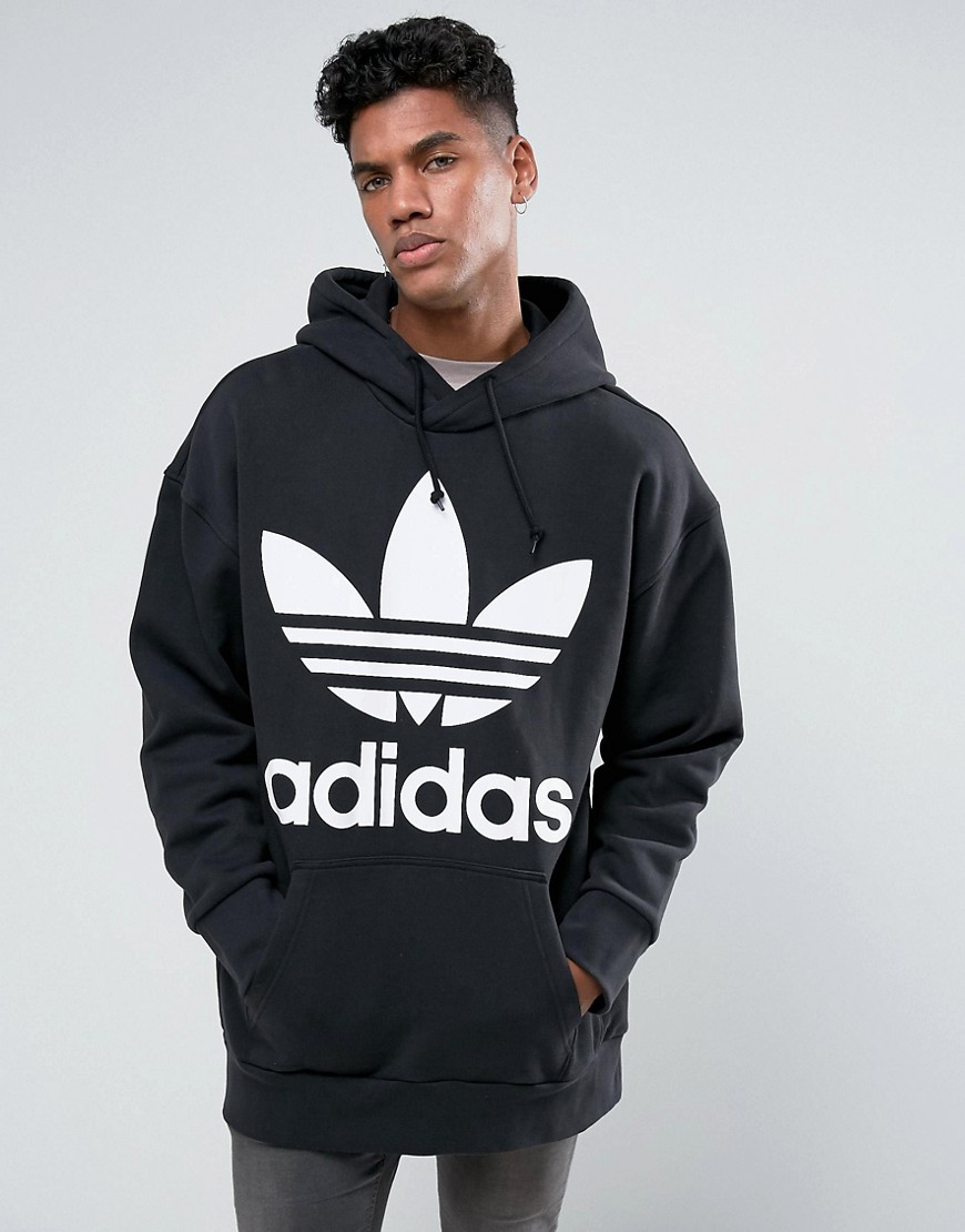 adidas Originals Boxy Oversized Hoodie In Black BR5078 - Black