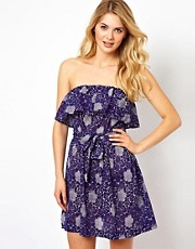 French Connection Oriental Daisy Bandeau Beach Dress