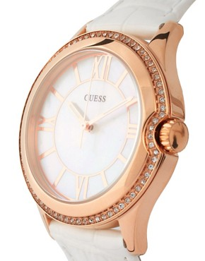 Image 3 ofGuess Moonbeam Mother of Pearl Buckle Watch