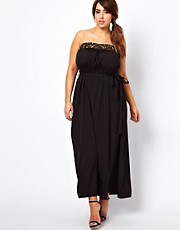 New Look Inspire Embellished Bandeau Maxi Dress