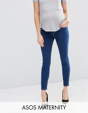 ASOS Maternity Ridley Skinny Jean In Kioshi Wash With Over The Bump Waistband