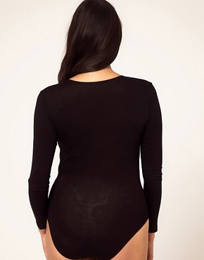 Image 2 ofASOS CURVE Exclusive Jersey Body With Wrap Front