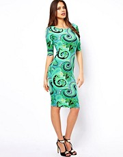 John Zack Midi Dress in Paisley Print