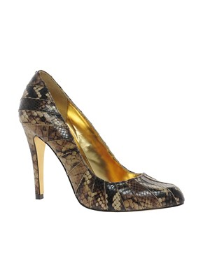 Image 1 of Ted Baker Exotic Leather Court Shoes