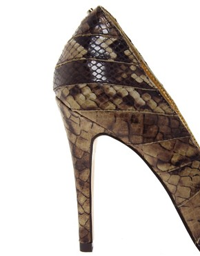 Image 2 of Ted Baker Exotic Leather Court Shoes