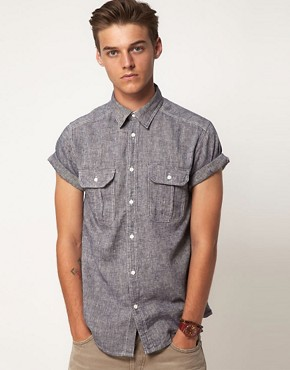 Image 1 ofJack &amp; Jones Earth Short Sleeve Shirt