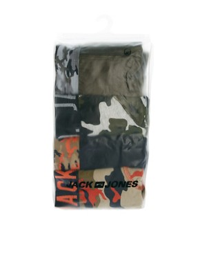 Image 3 ofJack &amp; Jones Camo 4 Pack Trunks