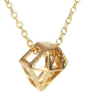 Image 4 ofFrench Connection Diamond Cage Ditsy Pendant Necklace