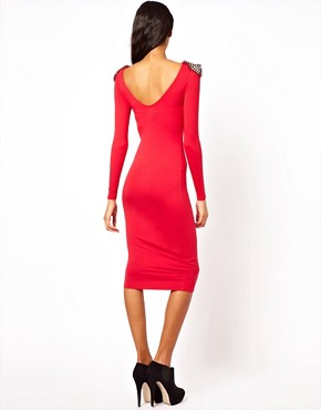 Image 2 ofASOS Bodycon Dress with Stud Detail