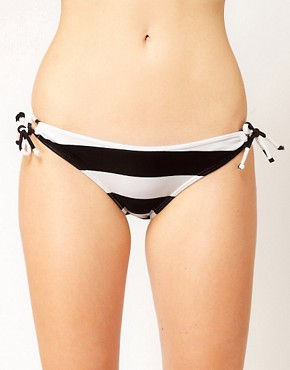 Image 1 ofASOS Mix and Match Stripe Loopside Bikini Pant