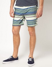 ASOS Stripe Oxford Shorts