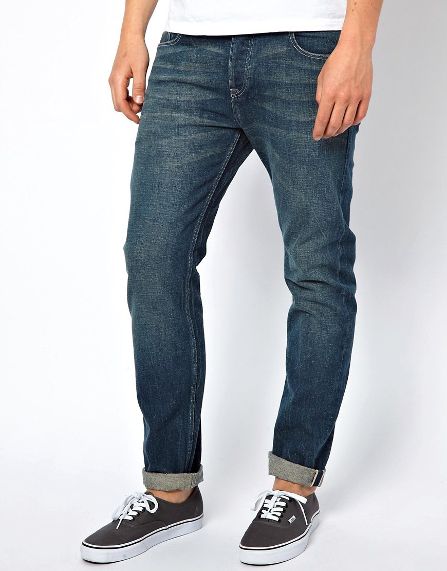 Image 1 ofASOS Slim Selvedge Jeans