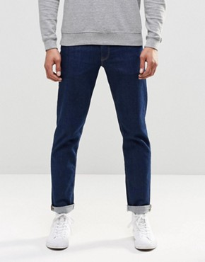 ASOS Stretch Slim Jeans In 12.5oz True Blue