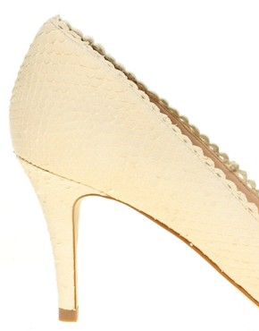 Image 2 ofASOS PING PONG Leather Point Heels