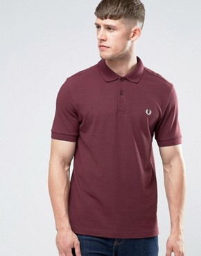 Fred Perry Polo Shirt In Mahogany