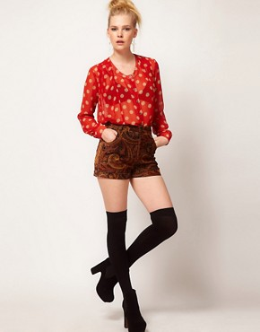 Image 4 ofMinkpink &#39;Double Take&#39; Polka Dot Chiffon Shirt