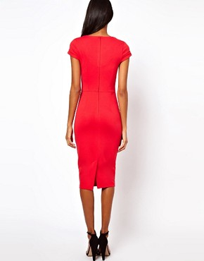 Image 2 ofASOS Pencil Dress With Seamed Bust