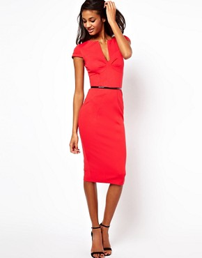 Image 4 ofASOS Pencil Dress With Seamed Bust