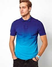 ASOS Polo With Dip Dye