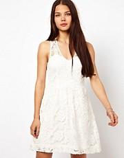 American Retro Lace Skater Dress