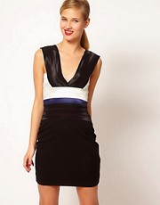 Markus Lupfer Deep V Dress