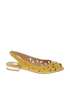 Image 1 ofRiver Island Cut Out Flower Slingbacks