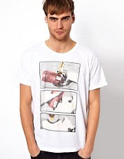 American Apparel T-Shirt With Beer Shot Print